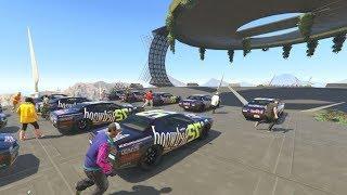 30 CAR DEMOLITION DERBY! - GTA 5 Funny Moments #728