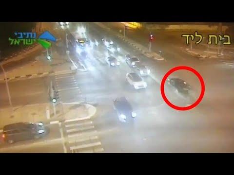 תיעוד: מרדף משטרתי בבית ליד הוביל לתאונת דרכים