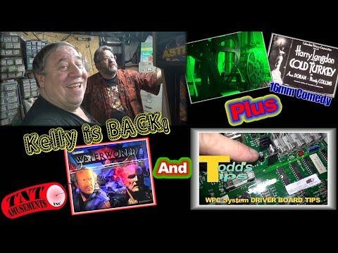 #1320 KELLY BENTS Returns with Gottlieb WATERWORLD-Odd MS PACMAN-WPC Pcb Tip-TNT Amusements