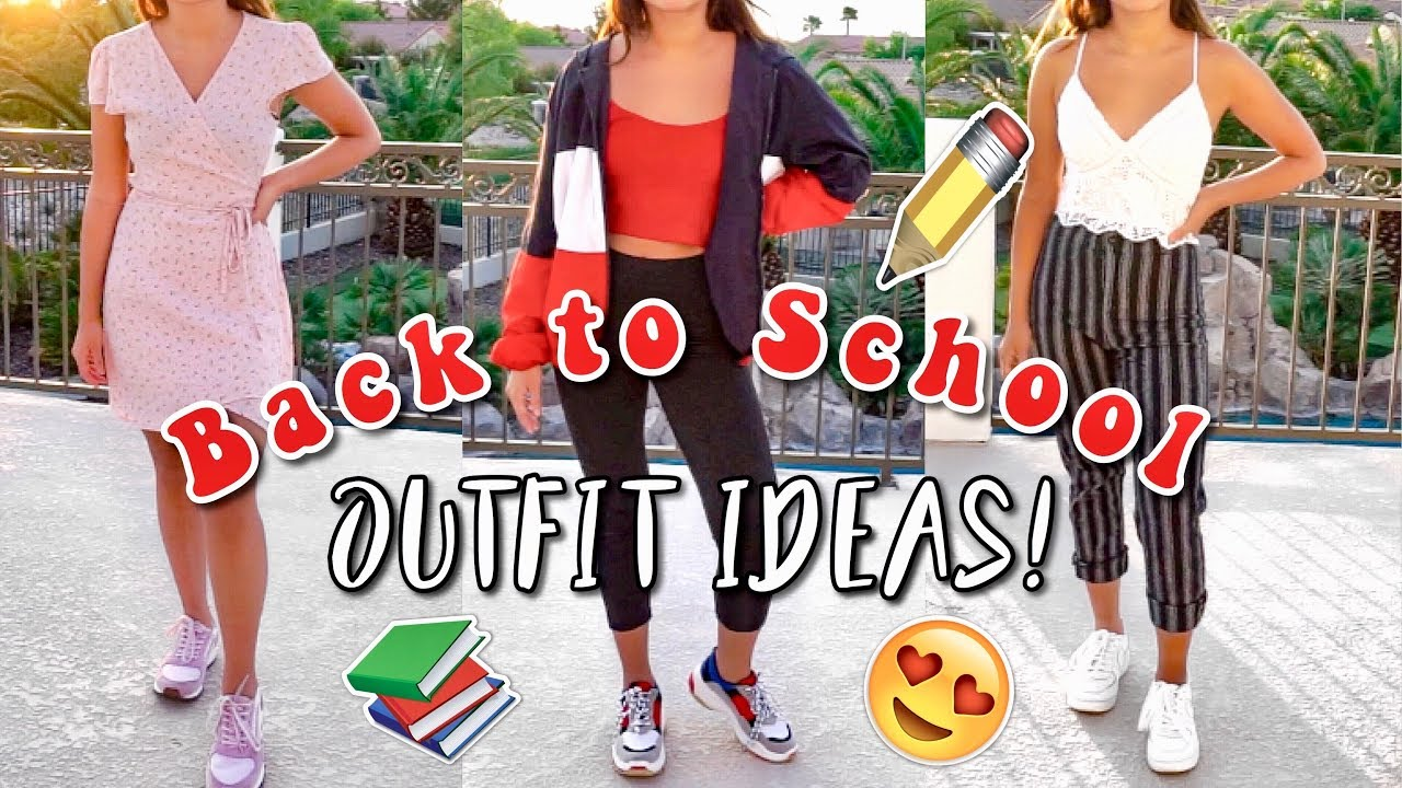 Back To School Outfit Ideas 2018 2019 Youtube