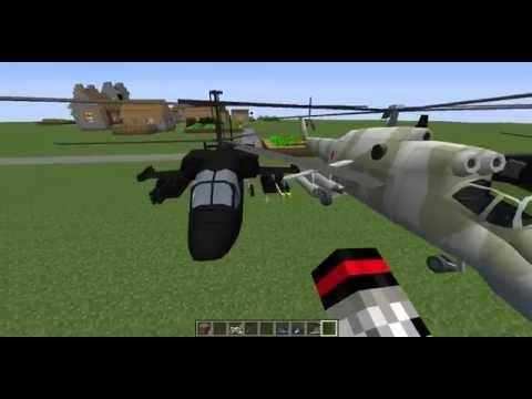 смотреть как мод майнкрафт на 1.8 военные вертолеты #6