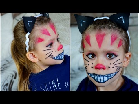 easy halloween kids makeup i grinsekatze youtube. Black Bedroom Furniture Sets. Home Design Ideas