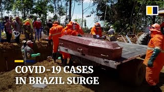 Brazil's Covid-19 case numbers surpass Italy and Spain as Bolsonaro plays down  pandemic