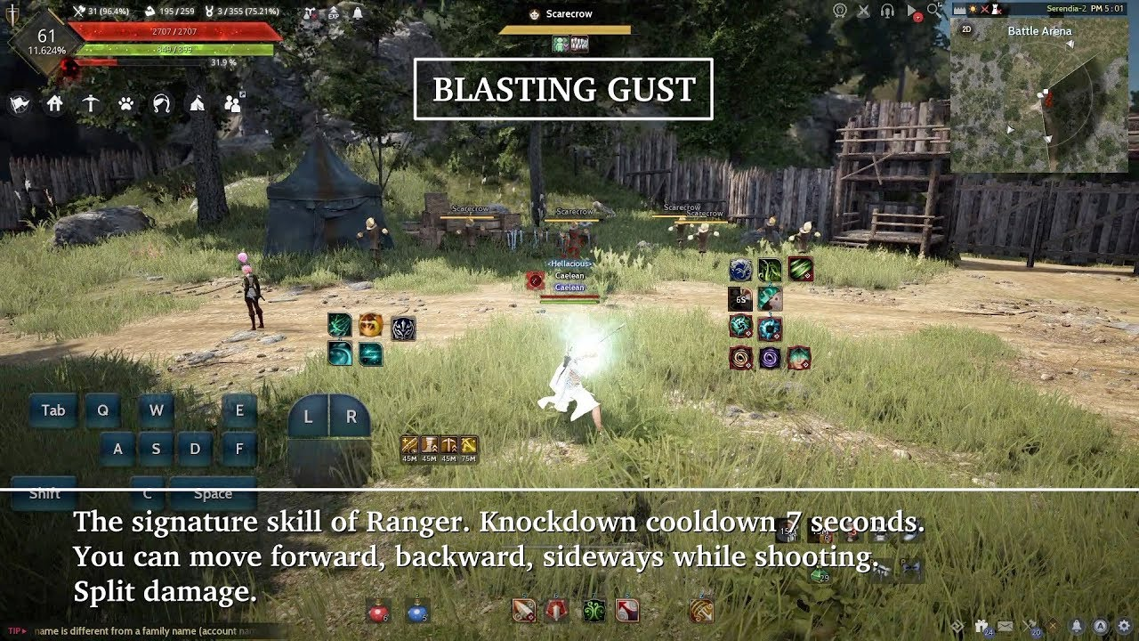 Black Desert Online Ranger Skills / Movement / Combo by Caelean Gaming  Channel