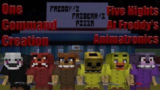 five nights at freddy s animatronics one command block creation minecraft