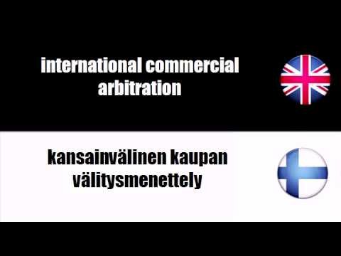 ENGLISH FINNISH   commercial arbitration