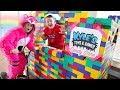 GIANT LEGO CANDY DRIVE THRU Candy Dispenser Restaurant Store!