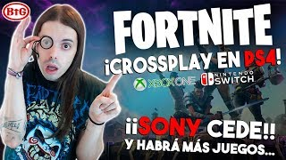 SONY CEDE ¡CROSSPLAY en FORTNITE entre PS4, SWITCH y XBOX! ¡VICTORIA MAGISTRAL!