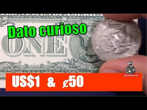 Dato curioso sobre el billete de un dólar y la moneda de 50 centavos