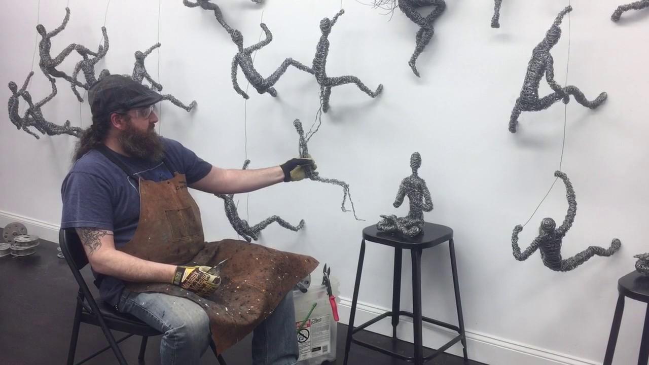 Chris Mason Wire Sculpture - YouTube