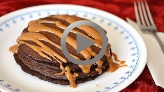 Chocolate Pancake With Peanut Butter Sauce - How To Make Chocolate Pancake At Home