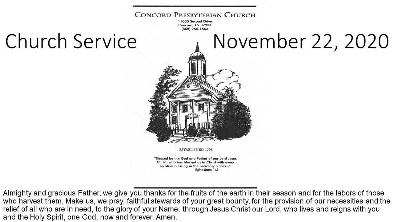 Church Service Nov 22, 2020