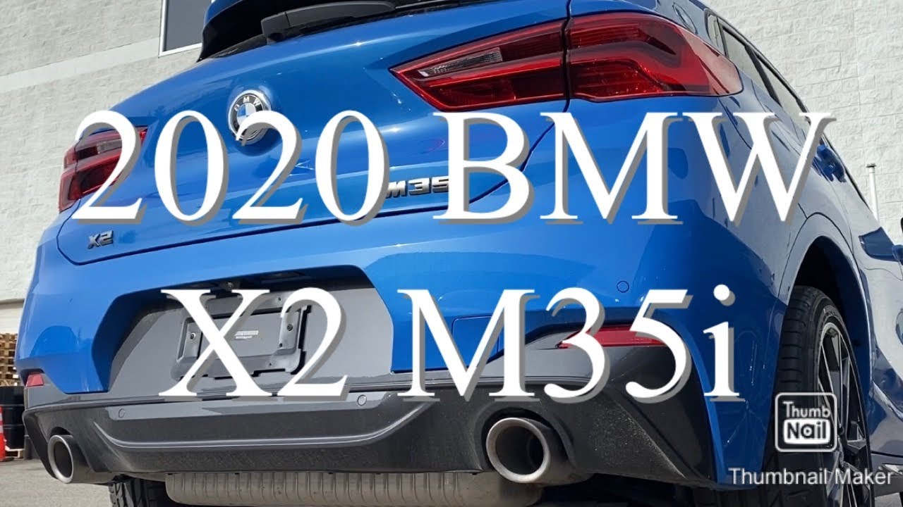 2020 BMW X2 M35i 301hp Misano Blue Great Exhaust sound