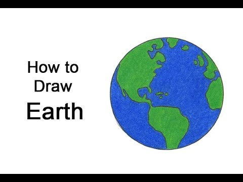 How to Draw Earth VIDEO & Step-by-Step Pictures