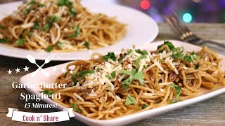 Spicy Butter Garlic Pasta in 15 Minutes