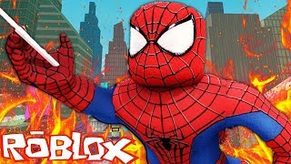 SPIDERMAN IN ROBLOX! - Roblox Superhero Tycoon | JeromeASF