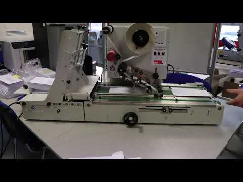 Automatic labeling of envelopes that include one sheet of paper - JMV LAB510 test run