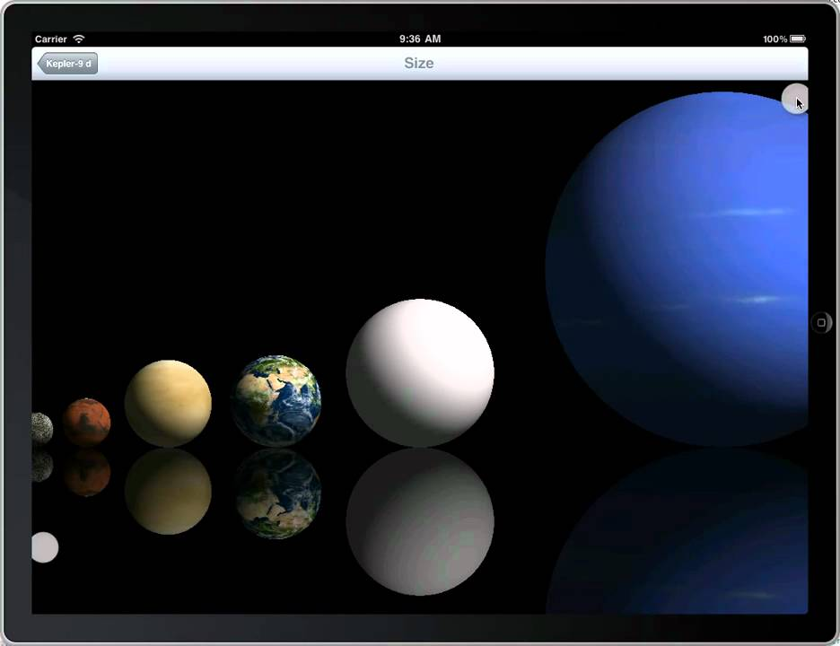 Kepler 9d - size comparison - iPad Exoplanet App - YouTube