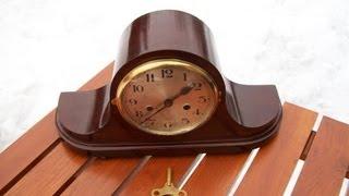 Gustav Becker Mahogany Mantel Clock