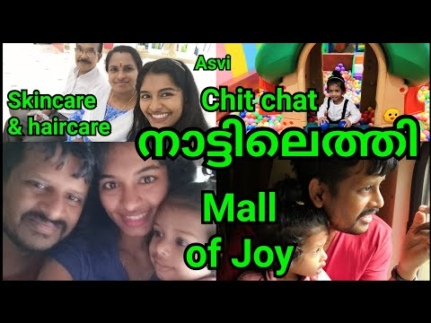 We are back to Thrissur Train vlog Mall of Joy Natural skin&hair care lot of Chitchat Asvi Malayalam