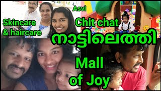 We are back to Thrissur|Train vlog|Mall of Joy|Natural skin&hair care|lot of Chitchat|Asvi Malayalam
