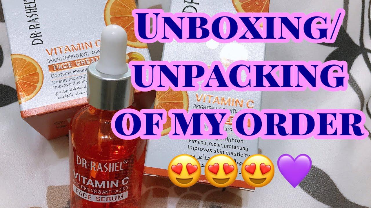 Unboxing 01 Dr Rashel Vitamin C Face Serum Cream Unpacking