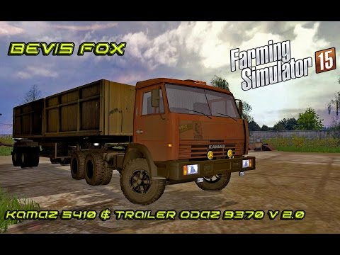 Камаз 5410 и ОДАЗ 9370 для Farming Simulator 2015