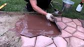 Распалубка тротуарной плитки 2. - YouTube
