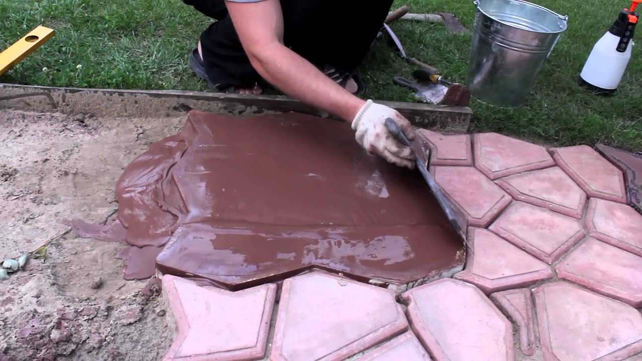 Заливка тротуарной плитки своими руками видео