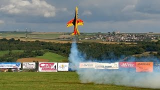 GIGANTIC RC TURBINE MODEL JET FLIGHT SHOW FROM SEBASTIANO SILVESTRI AVANTI S / Jetpower Messe 2015