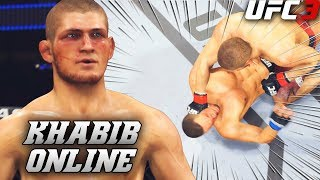 Khabib Nurmagomedov Stops Losing Streak! Clean Knockout! EA Sports UFC 3 Online Fight