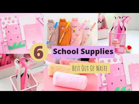 6 Back to School Craft Ideas / Easy DIY Back to School Supplies