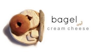Mini Bagel & Cream Cheese - Polymer Clay Tutorial