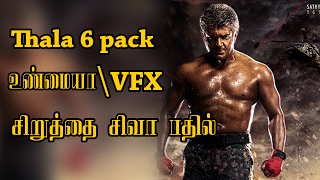 Vivegam Ajith Six Pack Is Real or Fake ? The Real Truth Revealed Director Siva