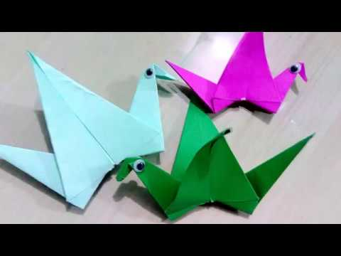 Paper Craft How To Make An Origami Flapping Bird I DIY 2 Min Creative Diaries