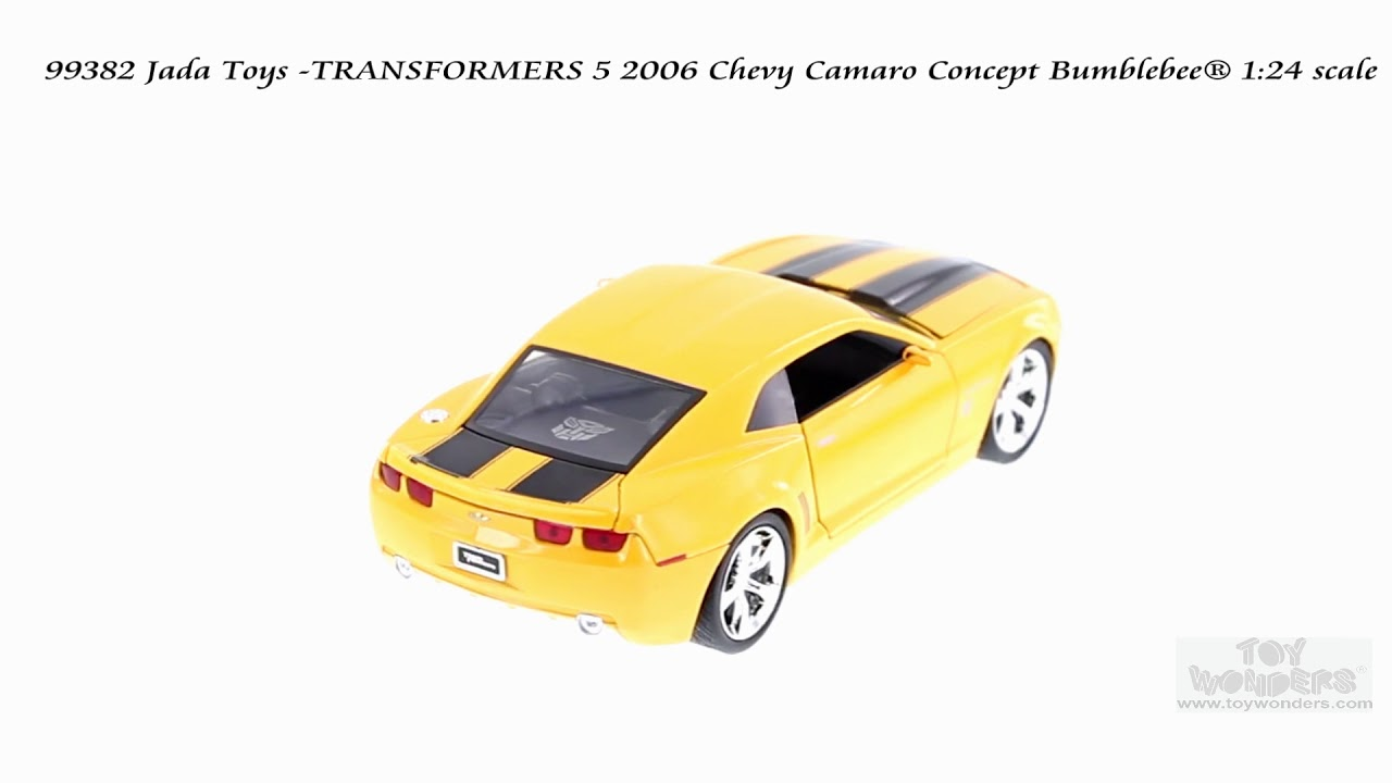 2006 CHEVROLET CAMARO BUMBLEBEE TRANSFORMERS YELLOW 1//24 DIECAST BY JADA 99382