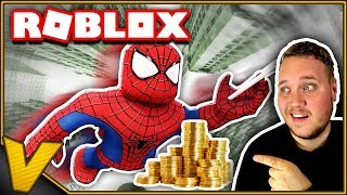 The BEST SPIDER MEN there is! :: 2 Player Super Hero Tycoon Roblox Danish