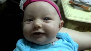 Smiling Baby at 6 Weeks