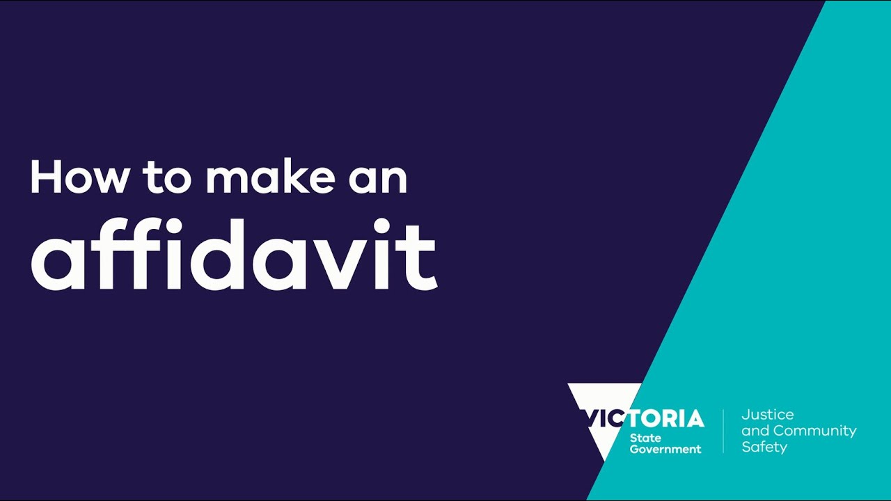 Affidavits | Department of Justice and Community Safety Victoria