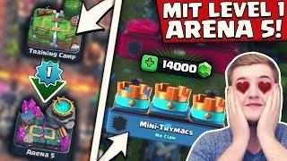 VON 0 AUF 1400 TROPHÄEN! | LEVEL 1 ACCOUNT CHALLENGE! | Clash Royale Deutsch