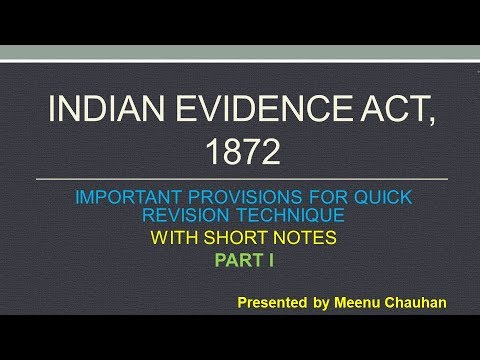 Indian Evidence Act Bare Act Pdf