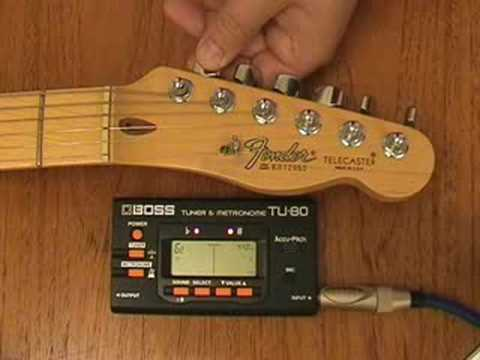 how to use an electronic guitar tuner to tune your guitar youtube