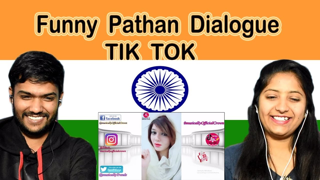 Indian reaction on Funny Pathan Dialogue | Tik Tok | Swaggy d
