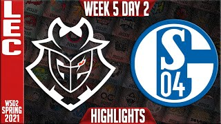 G2 vs S04 Highlights | LEC Spring 2021 W5D2 | G2 Esports vs Schalke 04
