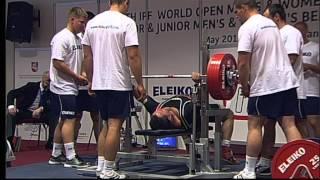 чемпионат мира по жиму лёжа катигория 120 кг. федирация IPF 2013 год часть 1