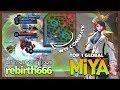 That Epic Comeback Last Tower vs Full Tower  rebirth666 Top 1 Global Miya   Mobile Legends