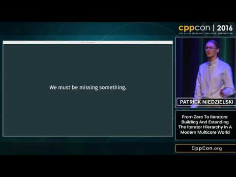 """CppCon 2016: """"Building and Extending the Iterator Hierarchy in a Modern, Multicore World"""""""