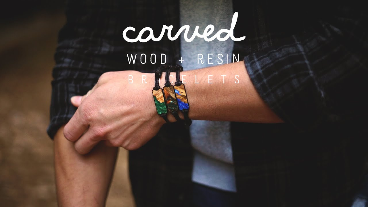 Carved Wood + Resin Bracelets At Starved Rock Canyon Illinois