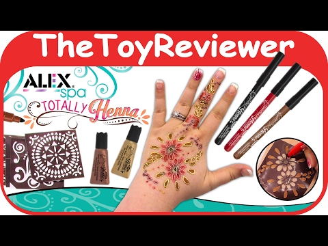 Alex Toys Spa Fun Totally Henna Tattoo Kit Diy Kids Easy Pens Unboxing Toy Review By The