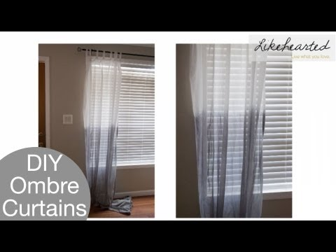 DIY: How to Ombre Curtains